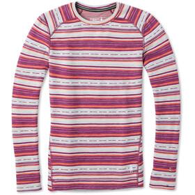 Smartwool Merino 250 Pattern Baselayer Crew Shirt Dames, habanero margarita